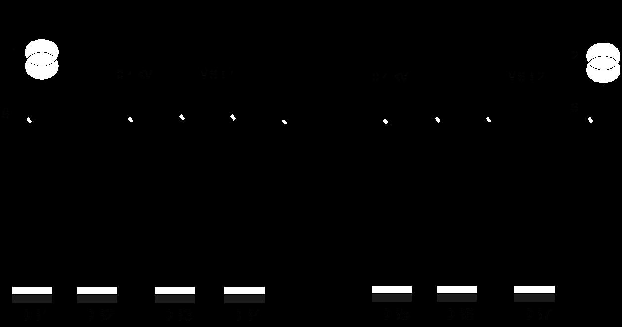 مخطط مجموعة محول مغذي رئيسي في كشك توزيع ثنائي المحولات