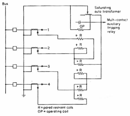 مخطط يوضح توصيلات المرحل التفاضلي