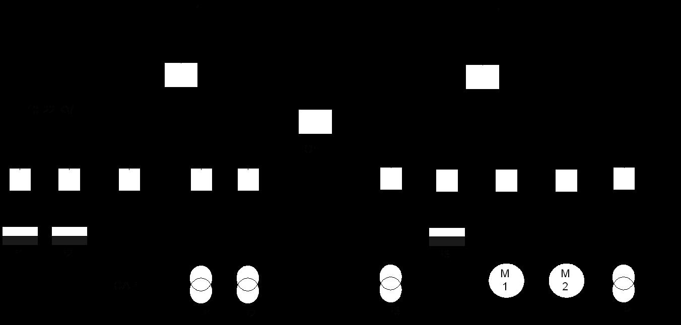 مخطط معدات التوزيع جهد متوسط بمجموعة قضبان واحدة مجزأة في محطة المحولات الرئيسية