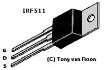 الترانزيستور IRF511