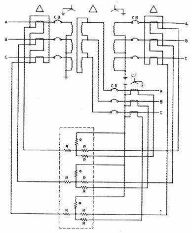 نظام الوقاية التفاضلية لمحول ثلاثي الملفات