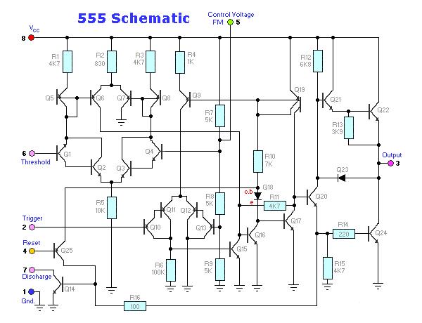 البنية الداخلية للمؤقت555