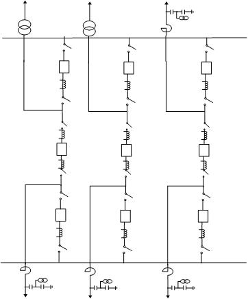 ثنائي القضبان وواحد و نصف جهاز قطع